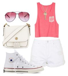 """""""Untitled #93"""" by amna-hakeem on Polyvore featuring Topshop, The Giving Keys, Converse, Tory Burch and STELLA McCARTNEY"""