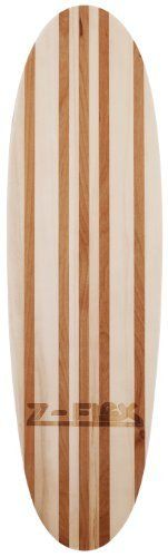 "Z-Flex Chipper Flynn V-Lam Skateboard (Light Base) by Z-Flex. $60.41. Vintage style board features redwood vertical laminates.  10 ply Canadian Rock maple.. V-Lam is a barefoot board that was inspired by the sidewalk surfer boards of the 60?s.. Custom 1.75"" Z-Flex trucks with 90A bushings.. 50mm clay colored Z-Flex wheels with ABEC3 stainless steel open case bearings.. Length:  22.75""  Width:  6.5""  Wheel Base:  12"". Z-Flex Chipper Flynn V-Lam Skateboard, Light Base"
