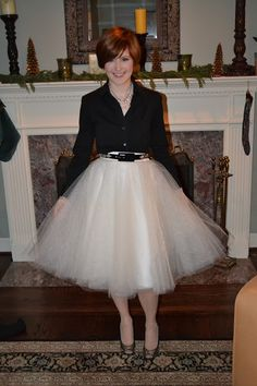 DIY Tulle Skirt  picture perfect to fit 40/50 still had a chance to Tulle Wow.