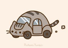 20 Reasons Why Pusheen The Cat Would Make The Perfect Boyfriend | OMG Pussen as the CATBUS from Totoro!!!!!!!