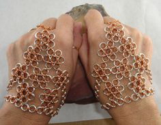 The ChainMaille Lady @ Quality Jewelry Designs: Chainmaille Hand Flowers