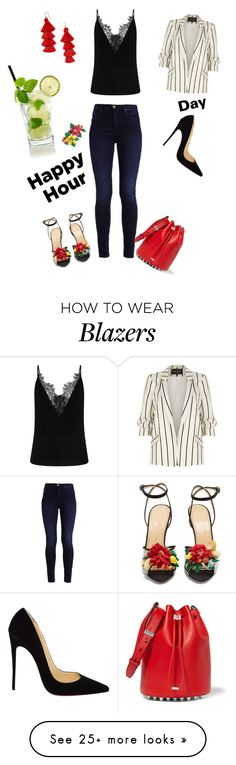 """""""Untitled #1884"""" by muffinsangria on Polyvore featuring River Island, Christian Louboutin, Charlotte Olympia, Alexander Wang, BaubleBar and Betsey Johnson"""