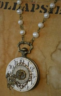 Upcycled Necklace  Vintage Watch Faces with by TheGildedGypsies, $96.00