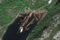 Russian Nuclear Submarine Graveyard | Forgotten Soviet Submarine Graveyard on the Kola Peninsula