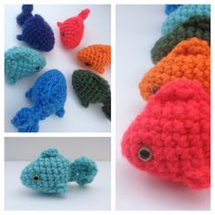 Lil Fishies (+ link to free fish amigurumi crochet pattern)