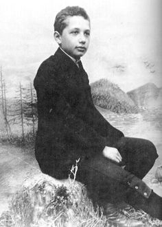 young Albert Einstein | As a child Einstein was slow in learning to speak and a poor student, but sought inspiration from playing classical music on the violin and developed a fascination with the science behind a compass. #alberteinstein