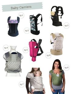 Baby wearing carriers