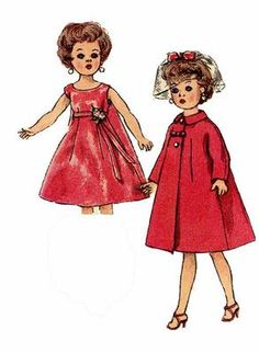 2744 Doll Clothes Pattern for 10 inch Miss Revlon, Miss Ginger, Jill & Coty. A 1940s sewing Pattern.
