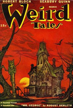 Weird Tales, March 1947, cover by Boris Dolgov