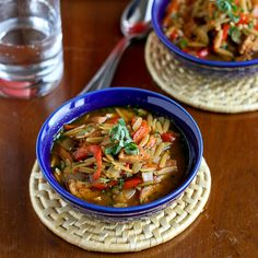 Hearty Chicken Sausage, Roasted Pepper & Whole Wheat Orzo Soup
