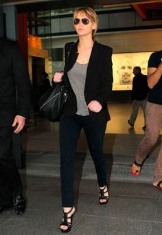 Jennifer Lawrence - Celebrity Airport Style - Celebrity Pictures - Marie Claire - Marie Claire UK