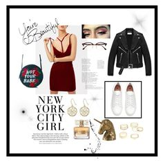 """""""Not your babe"""" by yumyv ❤ liked on Polyvore featuring H&M, Yves Saint Laurent, Ray-Ban, Givenchy, Charlotte Russe and Skinnydip"""
