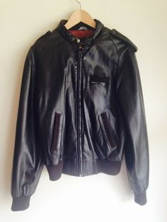 87036897659 Vintage Members Only Genuine Leather Racer Style Jacket Size 40 By  EuropeCraft