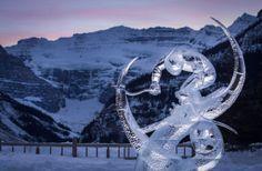 An icy Olympic skier! Photo by Paul Zizka www.zizka.ca Ice Magic, Winter Fun, Banff, Triathlon, Olympics, Touch, Events, Triathalon