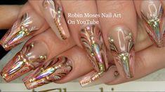 Nail Wesen von Robin Moses: Tropfen in Diamond Nails 2020 - Damen Mode Life Shellac Nail Art, Uv Gel Nails, Manicure, Nail Polish, Diamond Nail Designs, Diamond Nails, Nail Art Designs, Robin Moses, Nail Art Videos