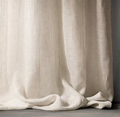 This particular pinch pleat drapes is a very inspirational and high-quality idea Cotton Curtains, Velvet Curtains, Sheer Curtains, Drapery, Window Curtains, Drapes And Blinds, Curtain Patterns, Curtain Ideas, Ideas