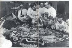 Russian Bolsheviks inspecting the pillaged Yusopov Treasure during the Revolution www.royal-magazin...