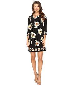 Taylor Printed Stretch Crepe Dress Black/Multi - 6pm.com