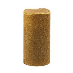 3x6 Inch Flameless Real Wax Led Pillar Candle with Timer with GoldEnrod color Glitter Powder