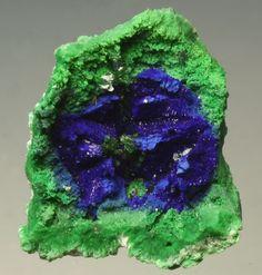 Malachite Psm Azurite, Conichalcite, Olivenite. Greece, Sterea Ellada, Attica, Lavrion