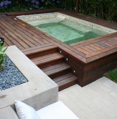 Love it built into the deck like this.  Imagine it with an outdoor fire pit and over looking the lake!