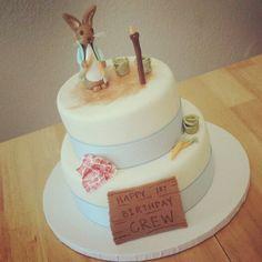 Peter Rabbit 1st Birthday Cake #AllForCake Facebook.com/AllForCake
