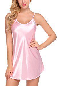 Avidlove Women's Pajamas Satin Nightgown Sexy Mini Slip Sleepwear (S, Pink) Satin Sleepwear, Sleepwear Women, Nightwear, Satin Nightie, Nightgown, Satin Lingerie, Lingerie Dress, Women Lingerie, Ropa Interior Babydoll