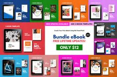 Ad: E-Book Bundle Templates by rivatxfz on Updates eBook Bundle September - - FREE LIFE TIME UPDATE! 11 Ebook template bundle creative slides Template descriptions: If Project Proposal Template, Proposal Templates, Keynote Template, Brochure Template, Design Brochure, Creative Brochure, Recipe Book Templates, 26 November, Cover Template