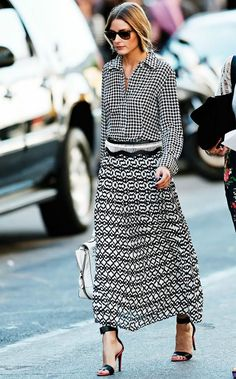 #OliviaPalermo Classic Print #Outfit - DesignerzCentral
