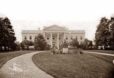 First Picture of the White House, 1860-65