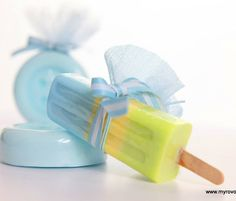 Μπομπονιέρα Βάπτισης (Soap Tales) σαπουνακι  παγωτό ξυλάκι