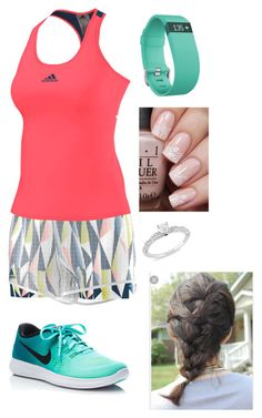"""Untitled #349"" by rikey-byrnes on Polyvore featuring Fitbit, NIKE and Ice"
