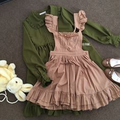 Cecilia homemade retro Sen Department cotton bow strap dress pleated aprons coin - Taobao