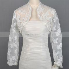 Ivory Long Sleeves Lace Jacket