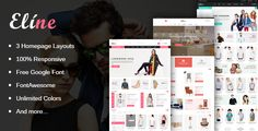 Eline - Multipurpose Responsive Magento Theme . Eline is a premium Magento theme with advanced admin module. It's extremely customizable, easy to use and fully responsive. Suitable for every type of store. Great as a starting point for your custom