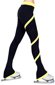 Ice Figure Skating Dress Practice Polar Fleece Pants - Yellow - Child Medium ny2 Sportswear