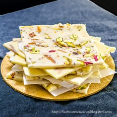 Bombay Ice Halva, a must have sweet from Mumbai. A sweet that is not only great to eat but also pretty artistic in form. Thinly sliced pie...