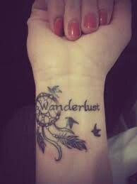 Wanderlust - love the dream catcher and bird combo.  something like this and have a different watercolor shading under each bird.  perhaps with one of my fav. travel quotes...