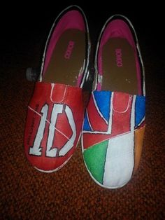 One Direction hand painted shoes | AMandPMGoods - Clothing on ArtFire