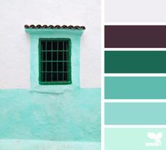 white black green teal blue