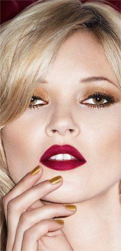 Kate Moss in her Rimmel Matte color 107- Rimmel London - Get The Velvet Touch