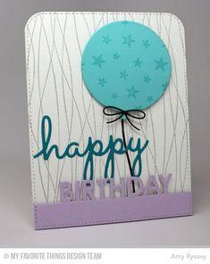 Balloon Strings Background, Star Celebration Background, Blueprints 26 Die-namics - Amy Rysavy  #mftstamps