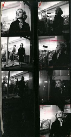 """Jeanne Moreau en """"Ascensor para el Cadalso"""" (Louis Malle,1857) - (Jeanne Moreau in """"Elevator to the Gallows"""")"""