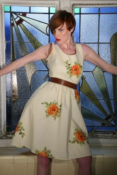Rose Blossom Vintage Inspired Sundress - Folksy