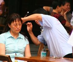 From a trip to the ear cleaning capital of the world: Chengdu, China. July 2007.