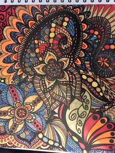 ColorIt Calming Doodles Volume 1 Colorist: Melissa Ringold #adultcoloring #coloringforadults #adultcoloringpages #doodle