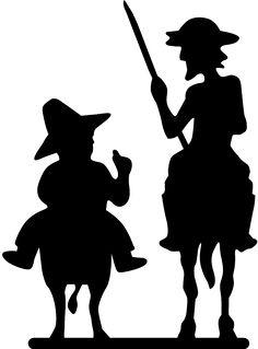 Vinilo Quijote y Sancho Panza