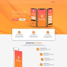 Adi - Chat App Landing Page. Responsive PSD Template Web Design, Ios App Design, Iphone App Design, Mobile App Design, Class Design, Web Mobile, Roll Up Design, App Landing Page, Simple App