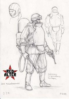 soviet flamethrower trooper by TugoDoomER