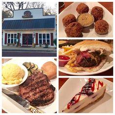 #PorkChop #BoudinBalls #BrickStreetBurger #WhiteChocolateBlueberryCheesecake @303jefferson Great food at a great place! #EatMississippi #EatClintonMS